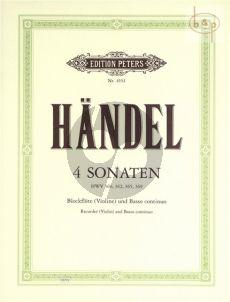 4 Sonaten Altblockflöte[Vi.]-Bc