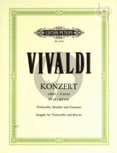 Concerto a-mino RV 418 (PV 35) (Violoncello- Str.-Bc.)