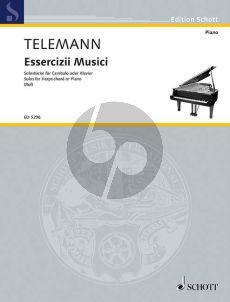 Telemann Essercizii Musici - Soli fur Cembalo (edited by Hugo Ruf)
