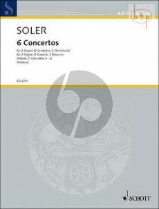 Soler 6 Concertos Vol.2 (No. 4 - 6) 2 Organs or Harpsichords (edited by M.S.Kastner)