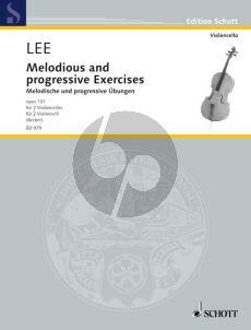 Lee Melodische und Progressive Ubungen Opus131 (2 Violoncellos) (Hugo Becker)