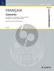 Francaix Concerto Bassoon-11 Stringinstruments (piano reduction)