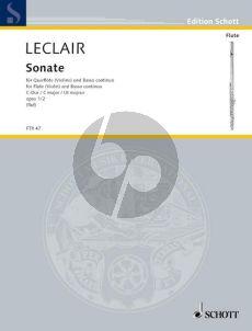 Leclair Sonata C-major Op.1 No.2 Flute[Vi.]-Bc (Hugo Ruf)