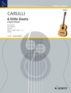 Carulli 6 Little Duets Op.34 Vol.1 2 Guitars (Walter Götze)