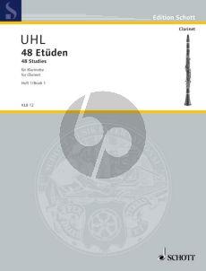Uhl 48 Etuden Vol.1 Klarinette