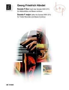 Sonate F-dur nach HWV 371