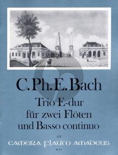 Bach Trio E-dur Wq 162 2 Flöten-Bc (Manfredo Zimmermann)