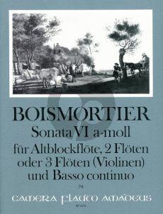 Boismortier Sonata a-minor Op.34 No.6