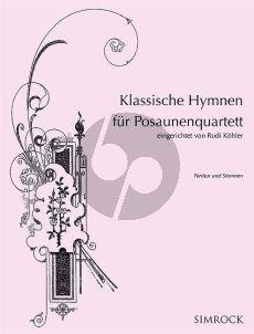 Klassische Hymnen 4 Posaunen (Part./Stimmen)