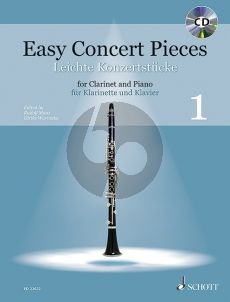 Easy Concert Pieces (25 Pieces from 4 Centuries) Vol.1 Clarinet-Piano (Bk-Cd) (edited by Rudolf Mauz and Ulrike Warnecke)