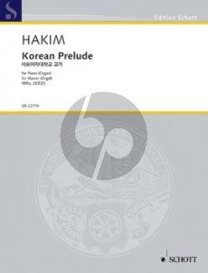 Hakim Korean Prelude Piano (or Organ)