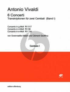 Vivaldi 6 Concerti Band 2 2 Cembali (transcr. Gwennaelle Alibert und Clément Geoffroy)