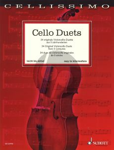 Cello Duets 34 Original Violoncello Duets from 5 Centuries