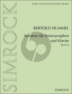 Hummel Sonatine Op. 35e Tenorsaxophon und Klavier