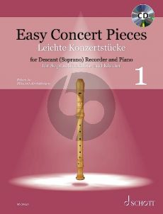 Easy Concert Pieces Vol. 1 Descant Recorder and Piano (30 Pieces from 5 Centuries - Book with CD) (edited by Elisabeth Kretschmann)