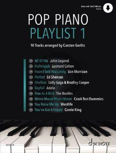 Pop Piano Playlist 1 (Book with Audio online) (edited by Carsten Gerlitz)