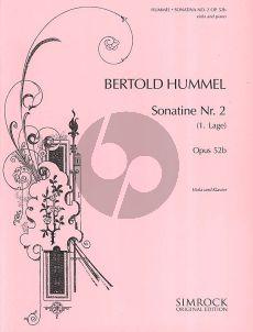 Hummel Sonatina No.2 Opus 52A Viola-Piano