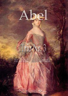 Abel  Trio Op.16 No.3 2 Flöten-Violoncello (Part./Stimmen)