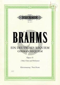 Deutsches Requiem op.45 (2 Soli-Chor-Orchester)