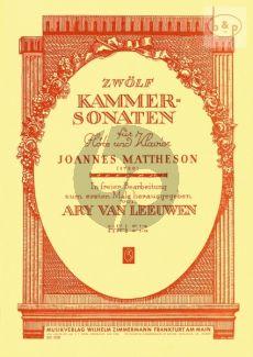 12 Kammersonaten Vol.1 Flöte-Klavier