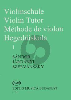 SandorViolin Method Violinschule - Violin Tutor Vol.1 (Hungarian, English, German, French)