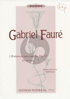 3 Romances sans Paroles Op.17 Piano solo