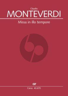 Monteverdi Missa in illo tempore SSATTB-Bc Partitur (Jeffrey Kurtzman)