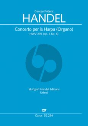 Handel Concerto B-flat major Harp (or Organ) HWV 294