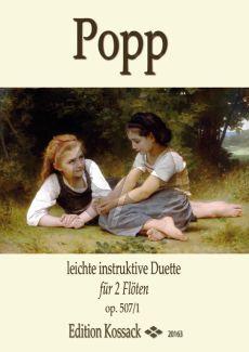 Popp Leichte Instruktive Duos Op. 507 Vol.1 2 Flöten