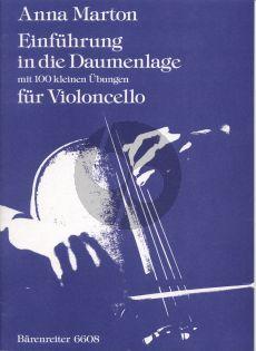 Marton Einfuhrung in die Daumenlage Violoncello (mit 100 kleine Ubungen)