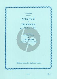 Telemann Sonate a-minor Oboe-Piano (Bleuzet)