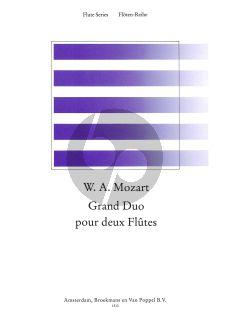 Mozart Grand Duo Op.76 2 Flutes (edited by Frans Vester) (Parts) (Grade 3)