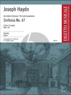 Haydn Symphony No.47 G-Major 'Palindrome' Hob. I:47 Robbins Landon Fullscore