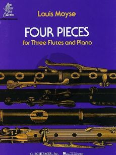 Moyse 4 Pieces for 3 Flutes and Piano