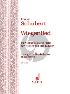 Schubert Wiegenlied Opus 98 No. 2 Violoncello-Piano (arr. Hugo Becker)