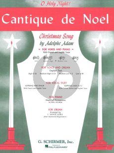 Adam Cantique de Noel (Medium-Low Voice (C)-Piano) (French-English) (Edited Carl Deis)