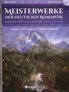 Meisterwerke der Deutschen Romantik Flote und Klavier Bk-Cd (arr. Franco Cesarini)