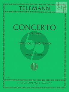 Concerto G-major Viola and Piano