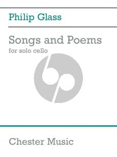 Glass Songs And Poems For Solo Cello