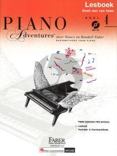 Faber Piano Adventures Lesboek 4 (Bk-Cd) (Ned.)