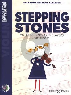Colledge Stepping Stones for Violin (26 pieces for violin players) (Bk-Cd)