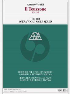Vivaldi Il Teuzzone RV 736 Vocal Score (It./engl.) (edited by A. Borin)