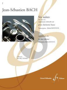 Bach 6 Suites BWV 1007 - 1012 Clarinette basse (transcr. Michel Bontoux)