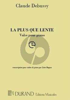 Debussy La Plus que Lente Violon et Piano (transcr. par Leon Roques)