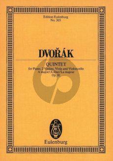 Dvorak Quintett A-dur Op.81 2 Vi.-Va.-Vc.-Klavier Studienpart.