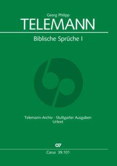 Telemann Biblische Sprüche Vol.1 SS[B] or SA[B]-2 Vlns [Va] ad lib.-Bc) Full Score (Telemann-Archiv)