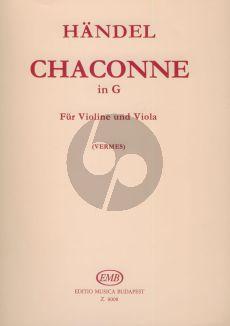 Handel Chaconne in G Violin-Viola (Maria Vermes)