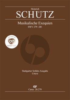 Schutz Musikalische Exequien I-III SWV 279-281