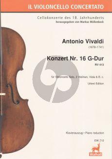 Vivaldi Concerto G-major RV 413 Violoncello-Strings-Bc (piano red.)