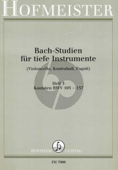 Bach Studien Vol.3 fur Tiefe Instrumente Kantaten BWV 103 - 137 (Siebach)